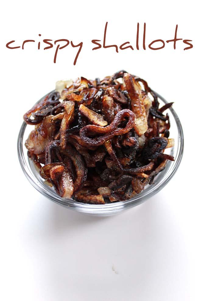 Crispy Shallots. Easy, delicious. #Glutenfree