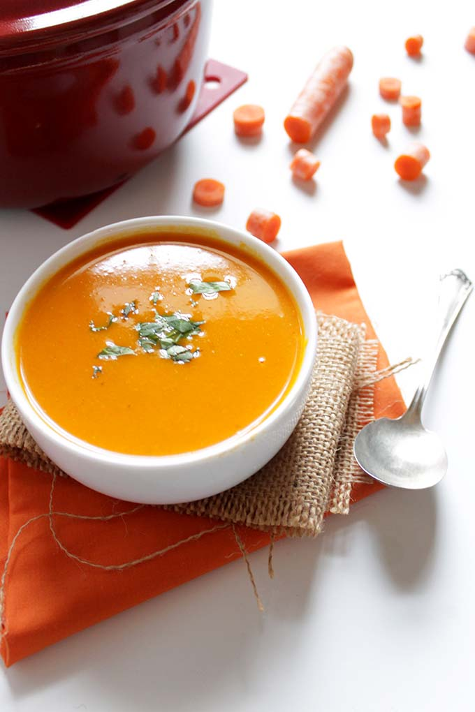 Carrot Soup. Simpe, healthy, delicious. #Glutenfree #Vegan