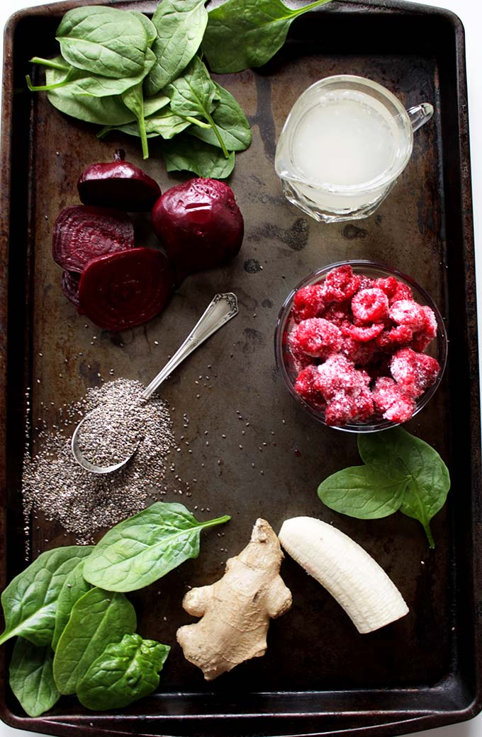 Beet and Raspberry Smoothie. #Vegan #Glutenfree