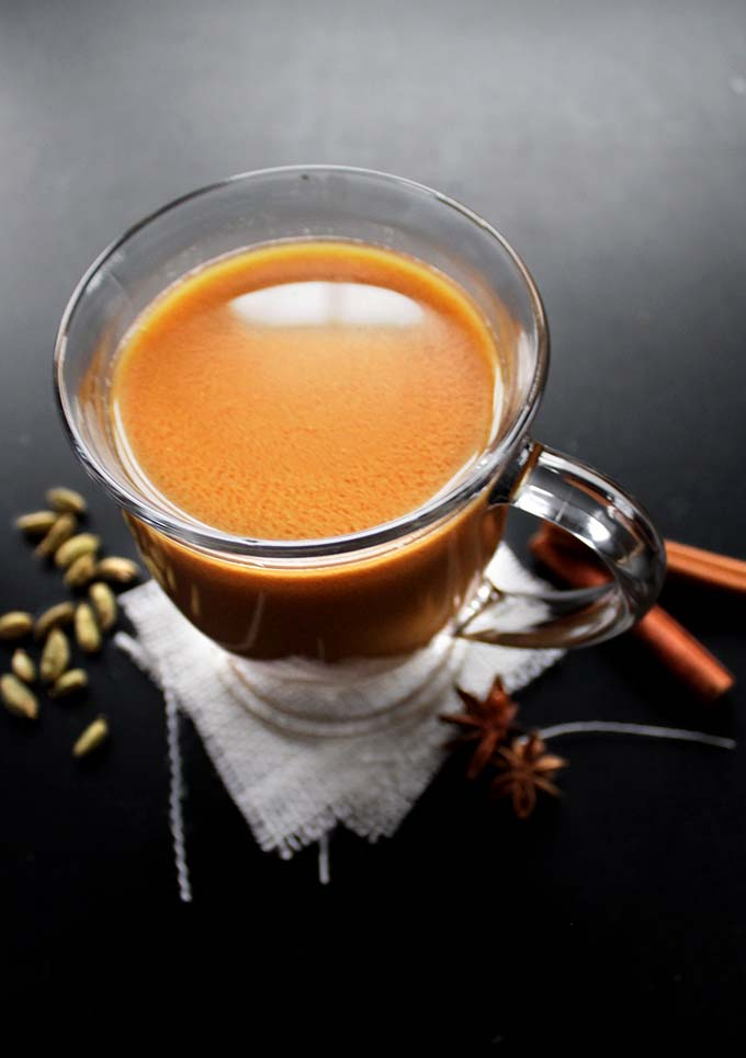 Dairy-Free Chai Tea Latte. Homemade. Easy. Comforting