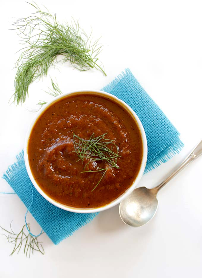 Roasted Butternut Squash and Fennel Soup. Simple. Healthy. Delcious #Glutenfree #vegetarian