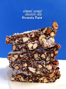 Almond Coconut Chocolate Chip Granola Bars