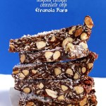 Almond Coconut Chocolate Chip Granola Bars. Simple. Easy. Delicious. guilt free dessert #GlutenFree #RefinedSugarFree