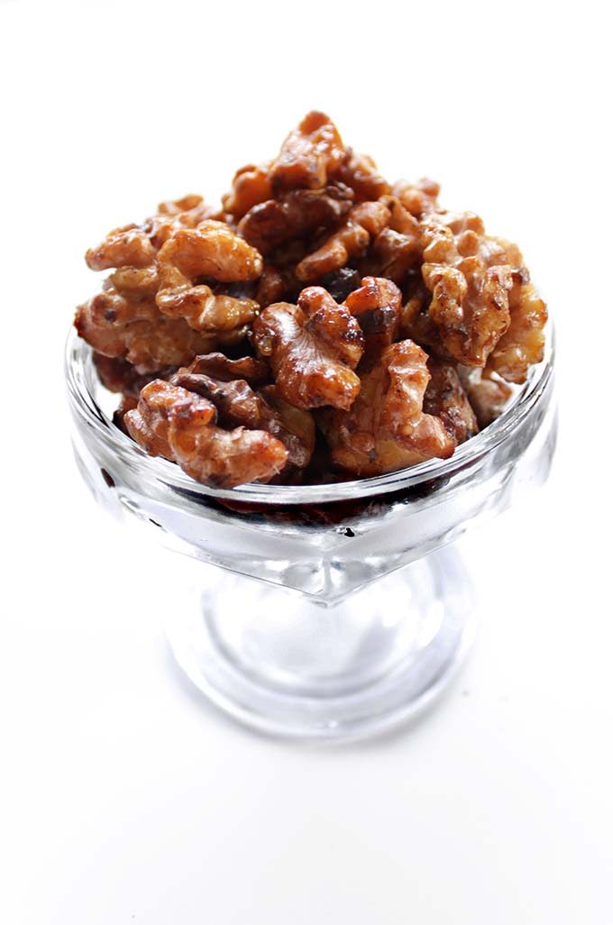 Easy 5-minute Candied Walnuts.