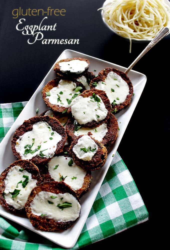 Gluten-Free Eggplant Parmesean. Hearty. Simple. Delicious. #Vegetarian #Glutenfree