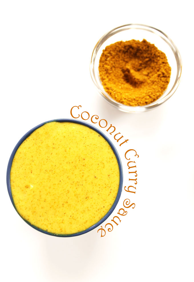 Coconut Curry Sauce. Quick and easy to make. Bursting with flavor. Super healthy! #glutenfree