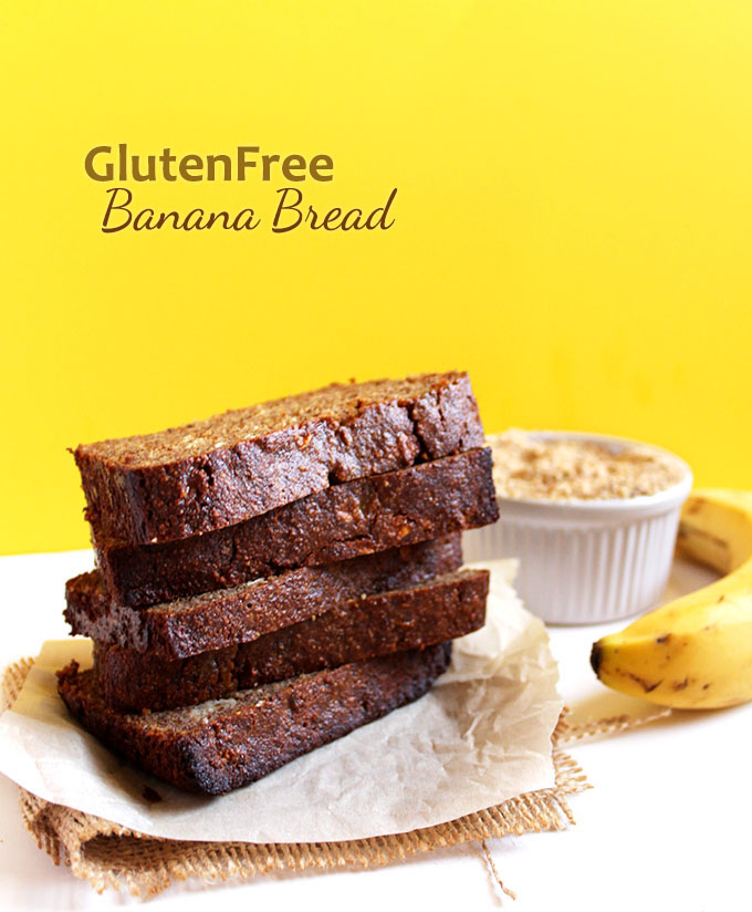 Gluten-Free Banana Bread. Made with almond flour. Super moist and tender. The best banana bread recipe ever! #GultenFree #HomeadeBread