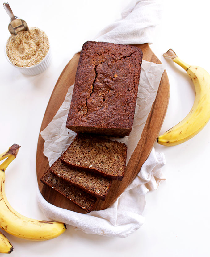 Gluten-Free Banana Bread. The best banana bread recipe ever! #glutenfree #homemadebread