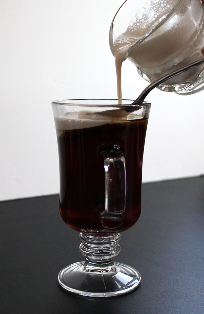 Irish Coffee Elegant. Delicious. #Wintercocktail #St.PatricksDay