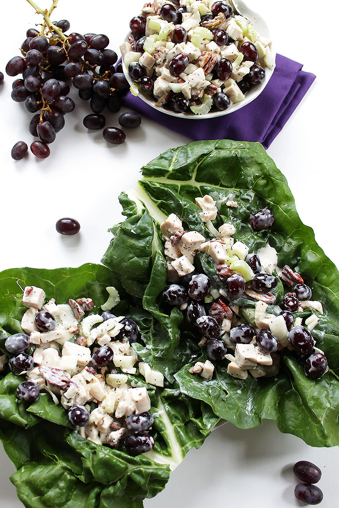 Sanoma Chicken Salad Swiss Chard Wrap. Simple. Healthy. Easy. Delicious. #lowcarb #glutenfree