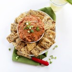 Sundried Tomato Chipotle Cream Cheese Dip. Easy to make. Smoky and spicy. #glutenfree #cinodemayo #partydip