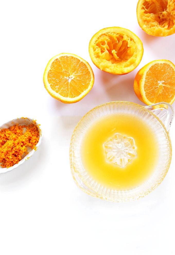 Orange Juice for Lighter Orange Chicken. Easy, healthier, Flavorful. #glutenfree