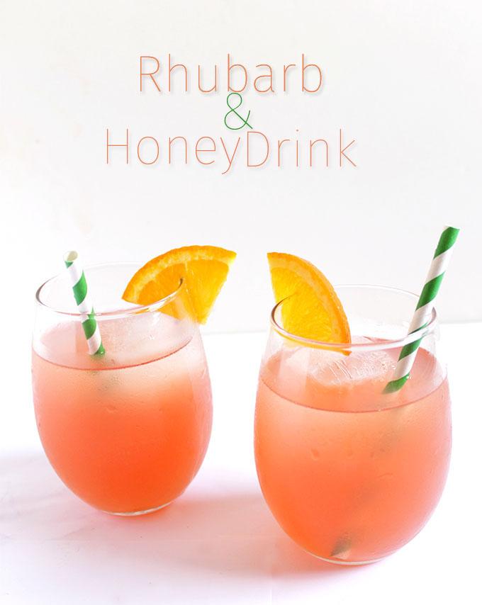 Rhubarb and honey drink. Simple. Easy. A refreshing sweet treat. #refinedsugarfree #rhubarb