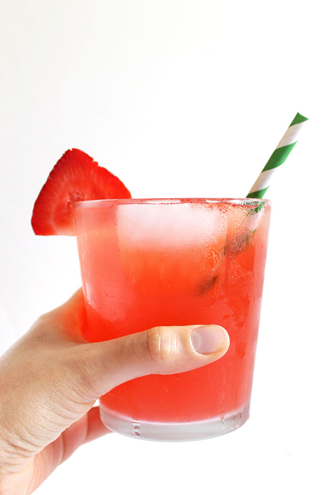 Strawberry rhubarb and honey drink. Simple. Delicious. Refreshing. Unique #refinedsugarfree #rhubarb