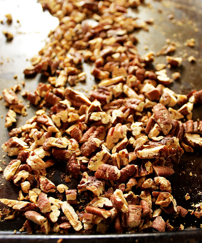 Toasted pecans for coconut crunch ice cream. #vegan #glutenfree