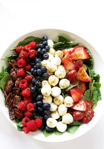Spinach Berry Salad with Honey Mustard Vinaigrette