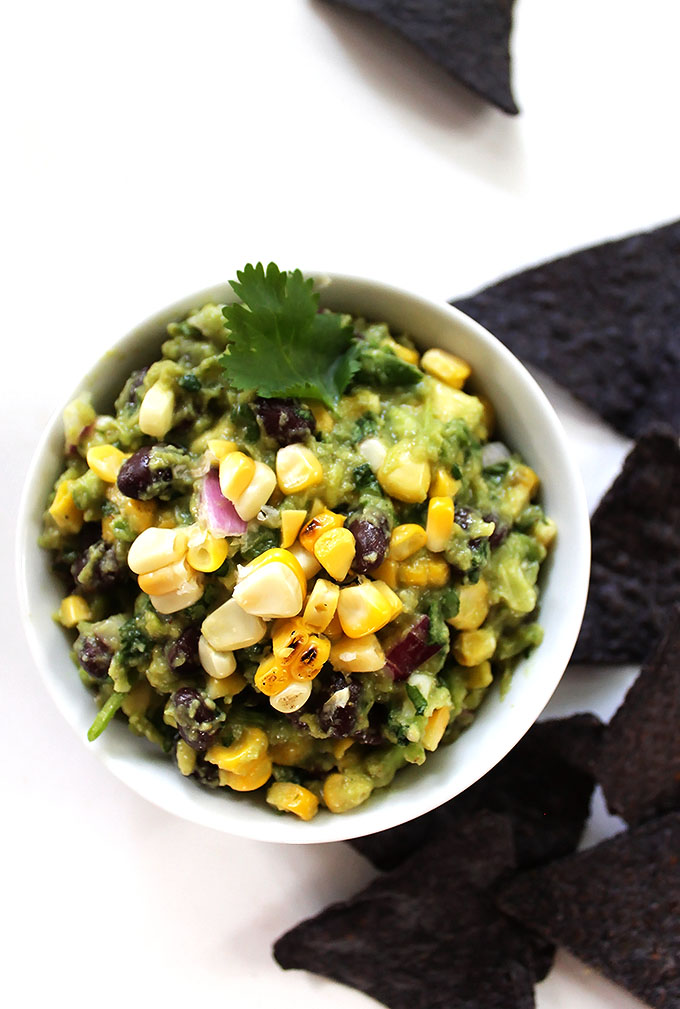 Grilled Corn and Black Bean Guacamole
