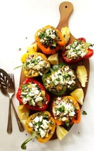Greek Quinoa Stuffed Peppers