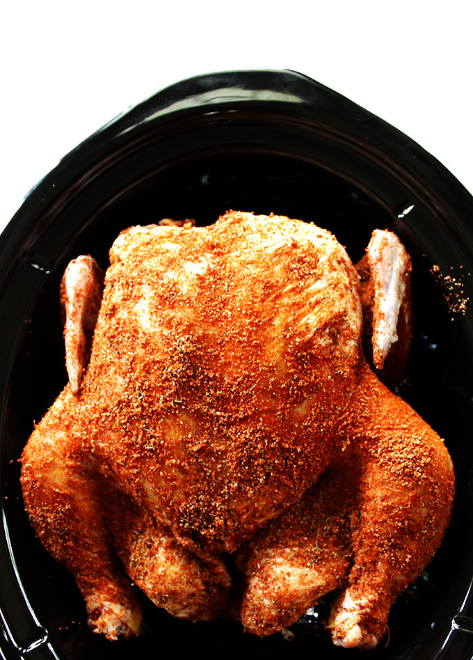 Slow Cooker Pulled Chicken. Tender, juicy, fall-off-the-bone good! #chicken #slowcooker #glutenfree   robustrecipes.com
