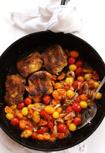 Pan Seared Cod with Blistered Tomatoes