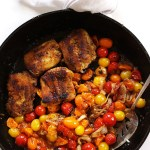 Pan Seared Cod with Blistered Tomatoes. A 1-pot meal. Easy, healty, bursting with flavor! #glutenfree