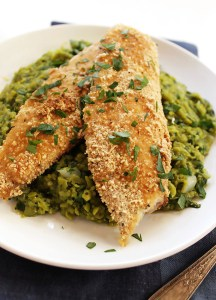 Crispy Tilapia with Mushy Peas (GF)