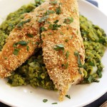Crispy Tilapia with Mushy Peas. A delicious, quick weeknight dinner! #glutenfree
