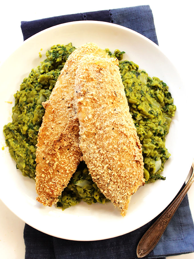 Crispy Tilapia with Mushy Peas. Perfect for a quick weeknight dinner. #glutenfree | robustrecipes.com