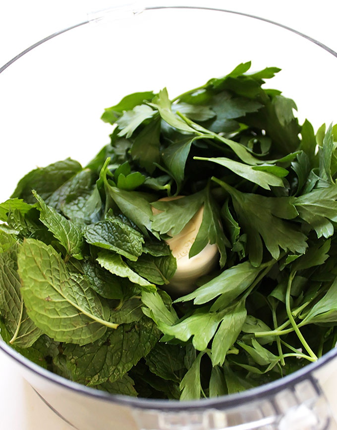 Fresh mint and parsley!   robustrecipes.com