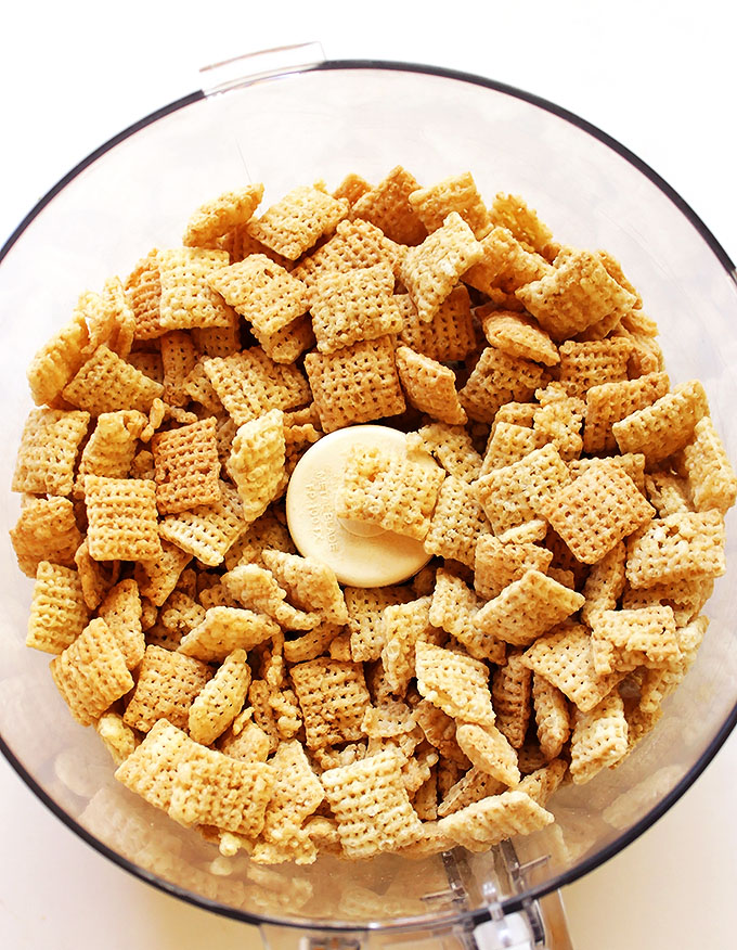 Rice Chex to make into bread crumbs | robustrecipes.com