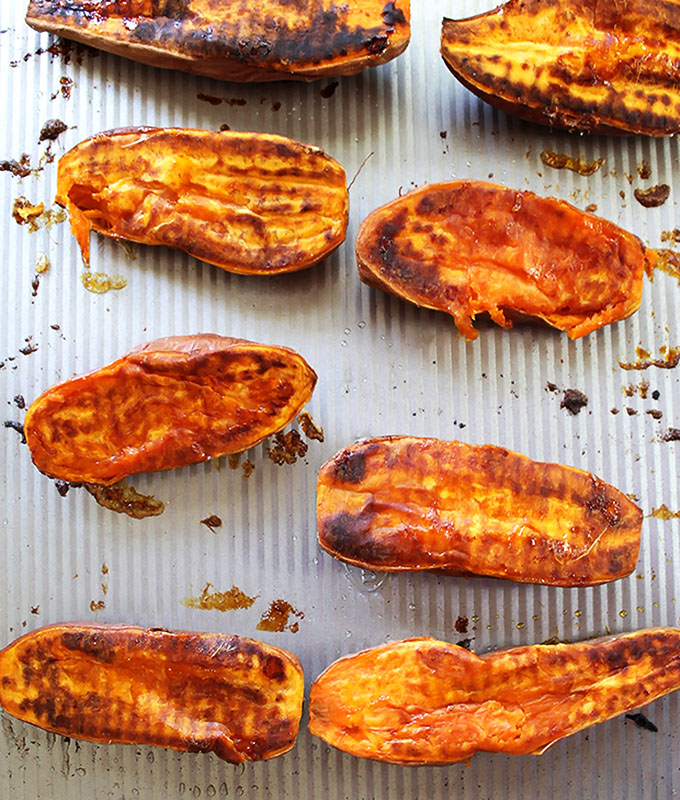 Roasted Sweet potatoes! | robustrecipes.com