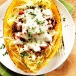 Spaghetti Squash with Meat Sauce. Super HEALTHY, low carb meal! #glutenfree #lowcarb