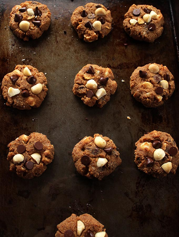 Chocolate Chip Orange Macadamia Cookies. Bursting with orange flavor, crunchy macadamia nuts, and gooy chocolate chips. Plus they are Gluten Free!