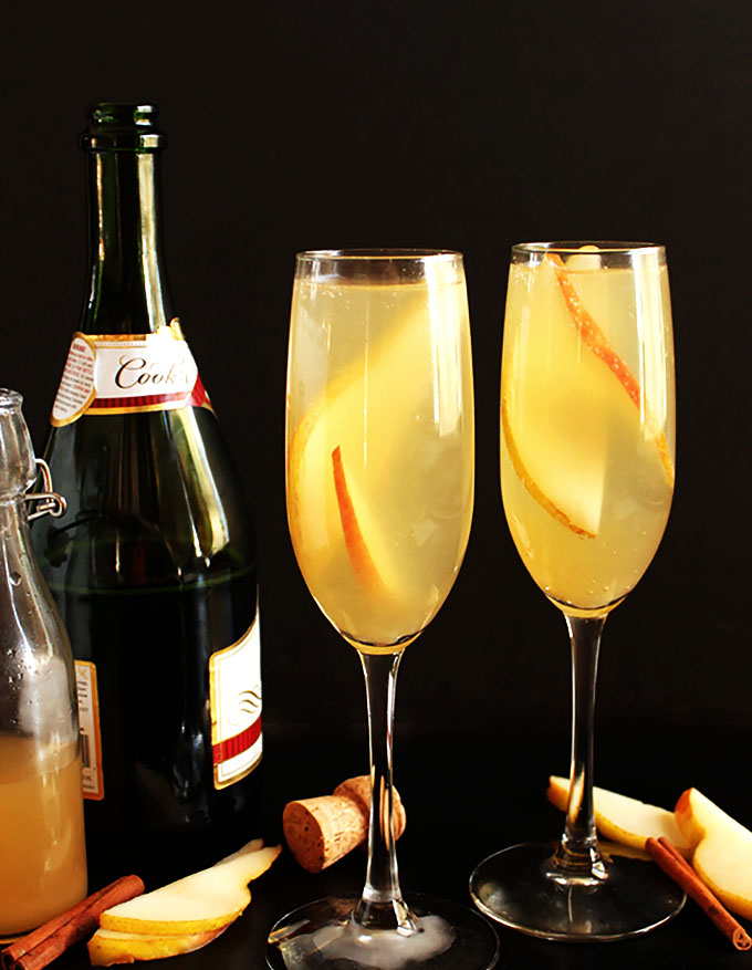 Pear Mimosa. The perfect drink for any celebration. Light and refreshing. Sweet and bubbly!