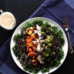 Roasted Veggie and Wild Rice Power Salad. A great way to use up leftover turkey or chicken. Glutenfree!