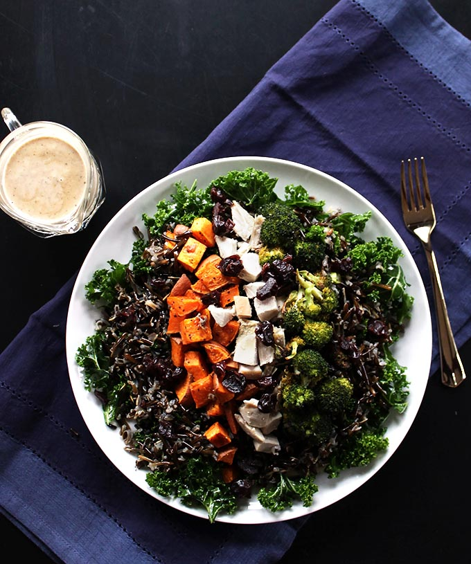 Roasted Veggie and Wild Rice Power Salad - Robust Recipes