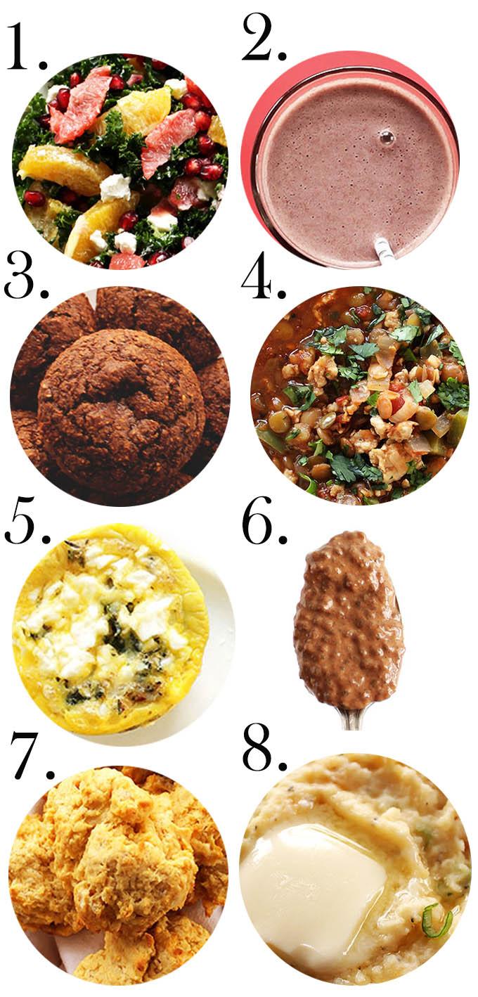January 2016 Recap numbered recipes