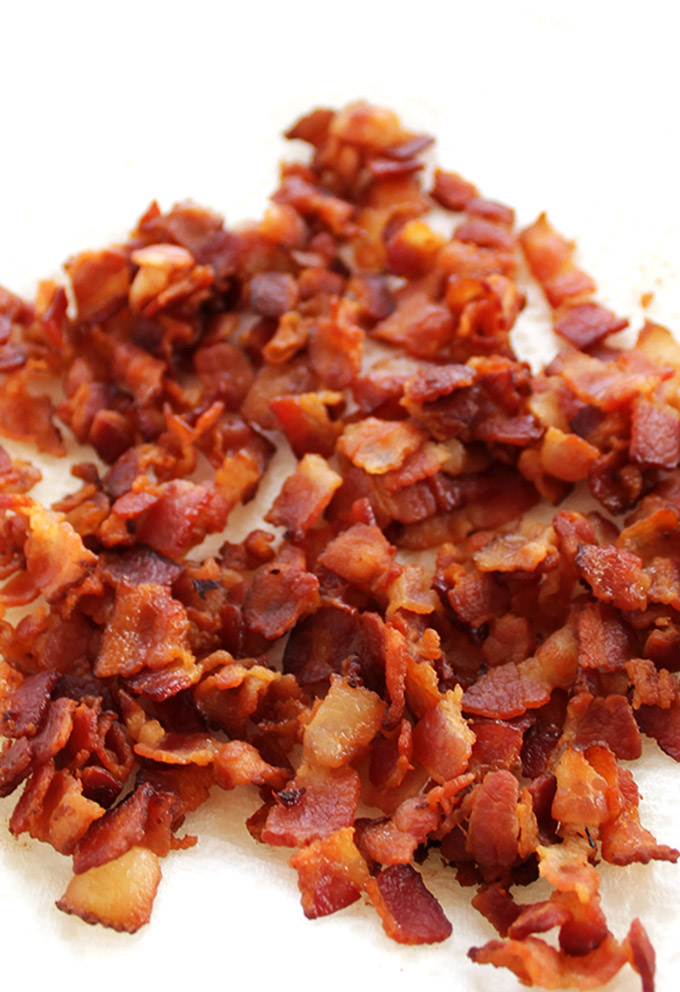Crispy Bacon for Healthier Loaded Baked Potato Soup! | robustrecipes.com