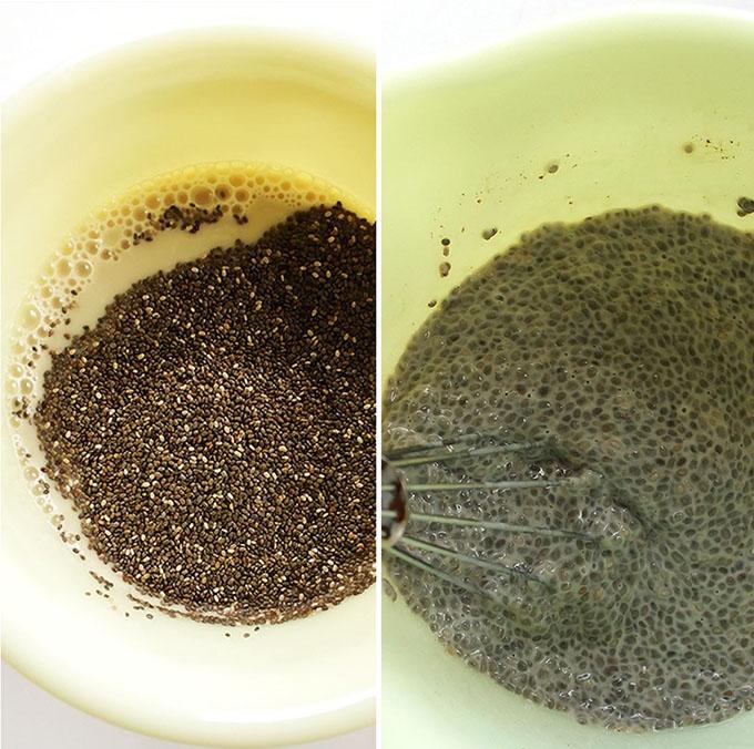 Chia seeds for Coconut Banana Chia Seed Pudding. Vegan/Gluten Free/Refined sugar free!