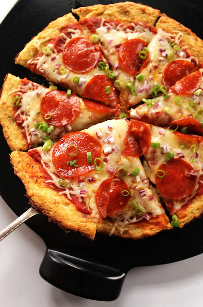 Easy Cauliflower Pizza Crust (GF)
