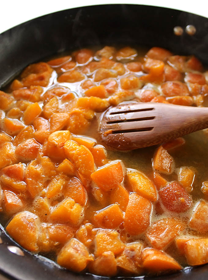 Apricot Sauce for One Pan Apricot Chicken. Gluten Free/Refined Sugar Free.