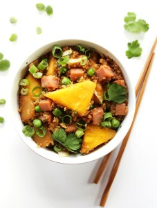 Pineapple and Ham Quinoa Stir Fry