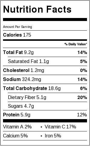 Beet Basil Hummus - Nutrtion Facts