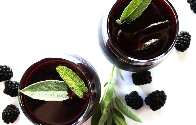 Blackberry Sage Red Wine Sangria
