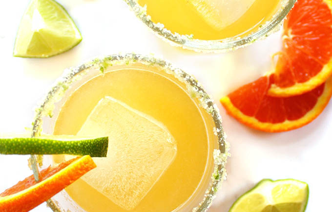 Skinny Orange Lime Margaritas