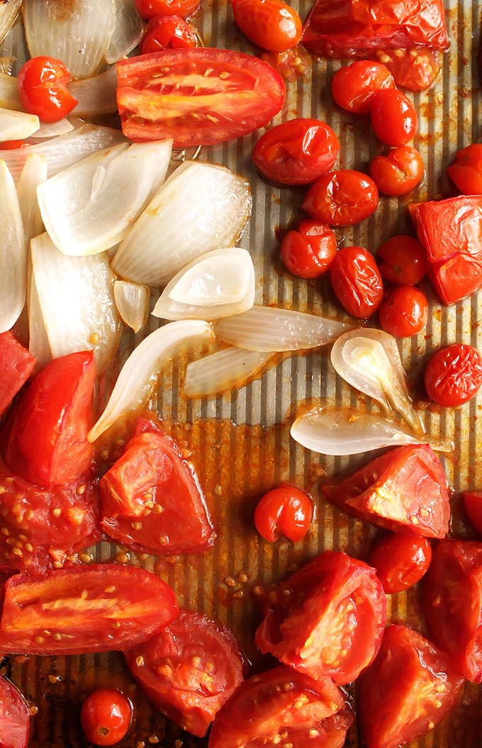 Roasted Tomatoes and Onion | robustrecipes.com