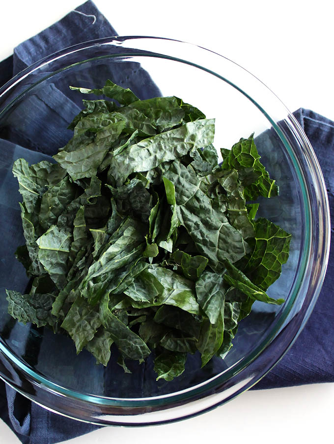 kale for fall kale salad with roasted delicata squash