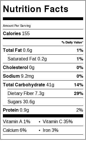 Slow Cooker Apple Cider + Boozy Bar - Nutrition Facts