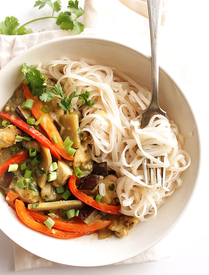Eggplant Green Curry With Chicken Robust Recipes