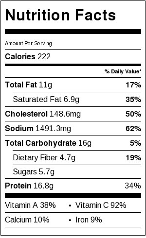 Cauliflower Fried Rice with Shrimp - Nutrition Facts